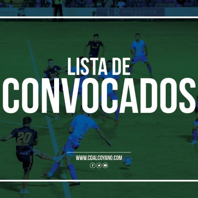 Lista de convocados para el CD Alcoyano vs Ontinyent CF.