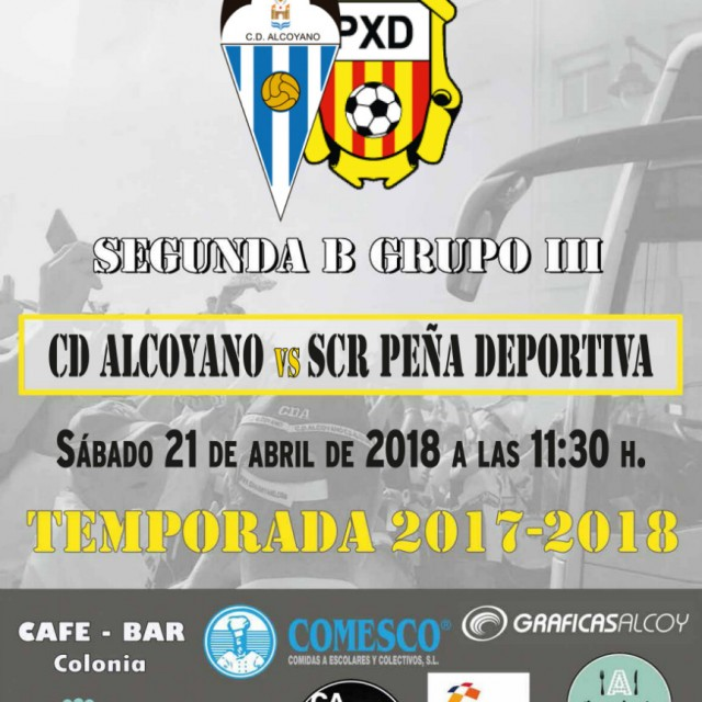 LOS ABONADOS PUEDEN RETIRAR DOS ENTRADAS GRATIS PARA EL CD ALCOYANO-SRC PEÑA DEPORTIVA