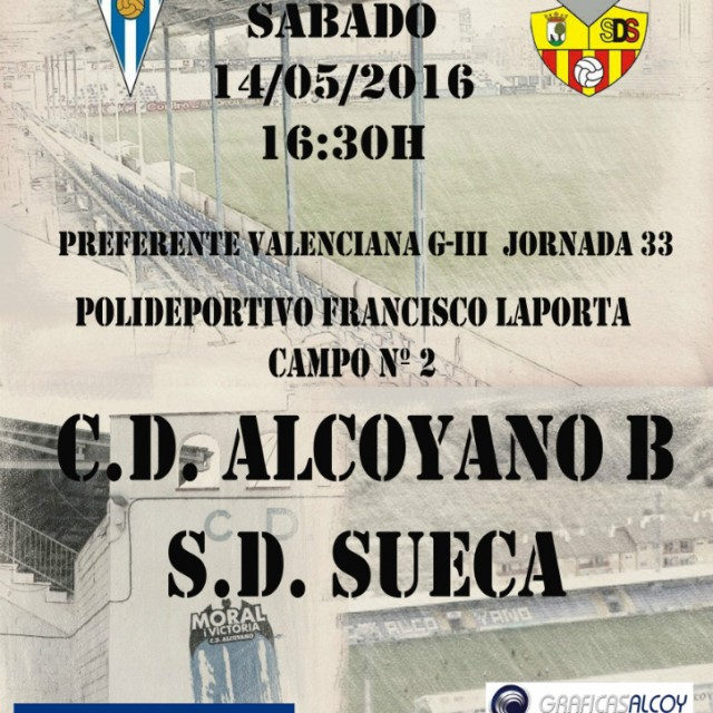 CD ALCOYANO B-SD SUECA, SIGUE LA LUCHA POR EL PLAY-OFF DE ASCENSO