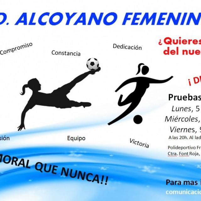 EL CD ALCOYANO FEMENINO BUSCA JUGADORAS PARA COMPETIR EN SEGUNDA REGIONAL