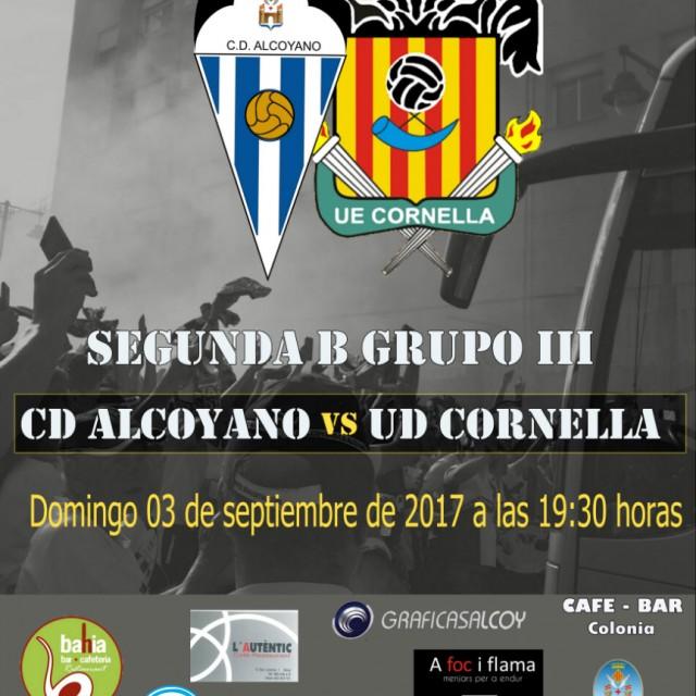 HORARIO CD ALCOYANO-UE CORNELLÀ