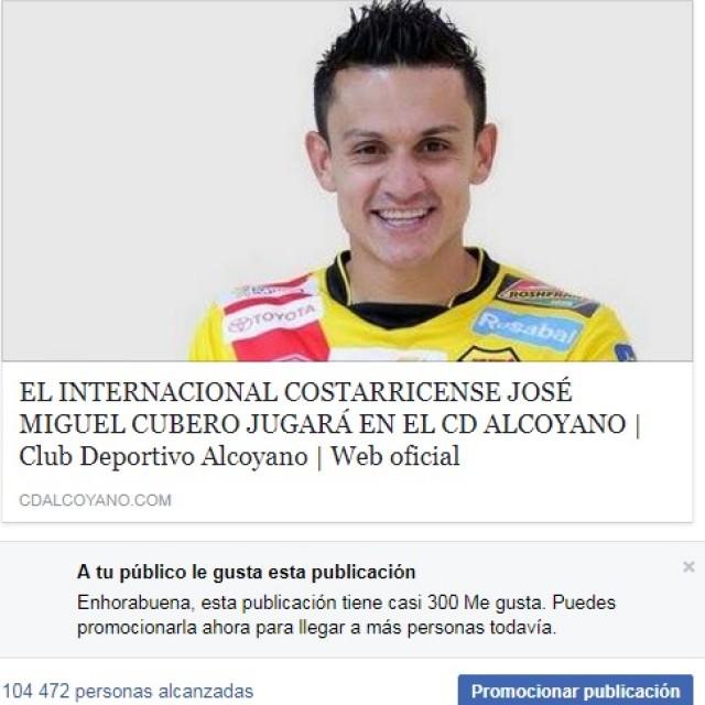 LA CONTRATACIÓN DE JOSÉ MIGUEL CUBERO DISPARA EL INTERÉS EN COSTA RICA POR EL CD ALCOYANO