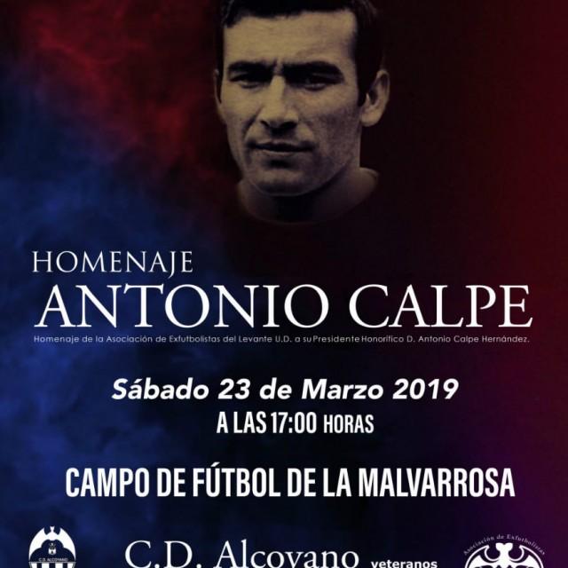 Homenaje a  Don Antonio Calpe