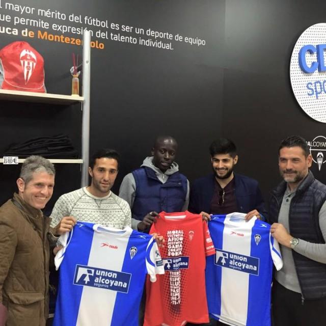 El CD ALCOYANO PRESENTA A FALL, LUISMI Y FRAN MARTÍNEZ